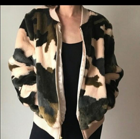 Andrew Marc Jackets & Blazers - ***SOLD***fur camo jacket
